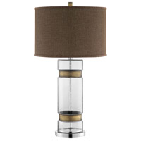 Clear and Antique Brass Table Lamps