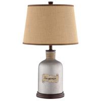 Stein World 99908 Ferrgi 26 inch 150 watt Grey/Brown Table Lamp Portable Light