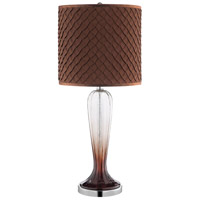 Stein World 99914 Vini 30 inch 150 watt Clear and Bronze Ombre Glass/Chrome Table Lamp Portable Light