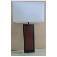 Herbert 33 inch 150 watt Brown and Black with White Table Lamp Portable Light