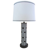 Roja 32 inch 150 watt White and  Black Table Lamp Portable Light