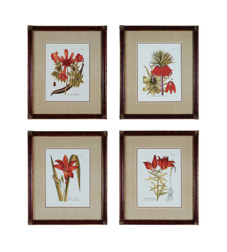 Sterling Industries Trumpet Flowers  Set of 4 Wall Art 10001-S4 photo