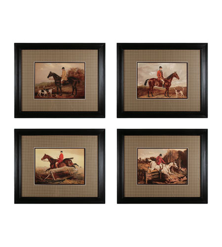 Sterling Industries Hunters & Jumpers Set of 4 Wall Art 10018-S4 photo
