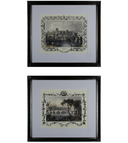 Sterling Industries Etchings with Borders Set of 2 Wall Art 10030-S2 photo
