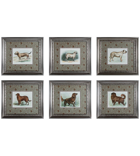 Sterling Industries Classic Dogs Set of 6 Wall Art 10052-S6 photo