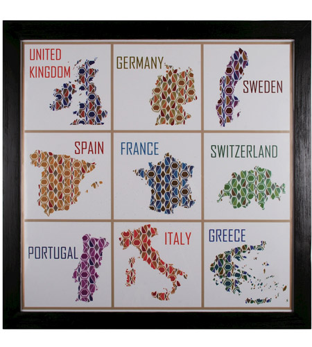 Sterling 10071-S1 9 Patch Countries Wall Art photo