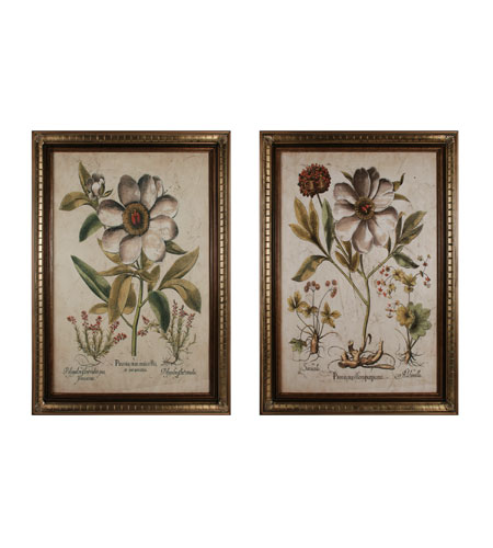 Sterling Industries Custom Ivory Peonies  Set of 2 Wall Art 10079-S2 photo