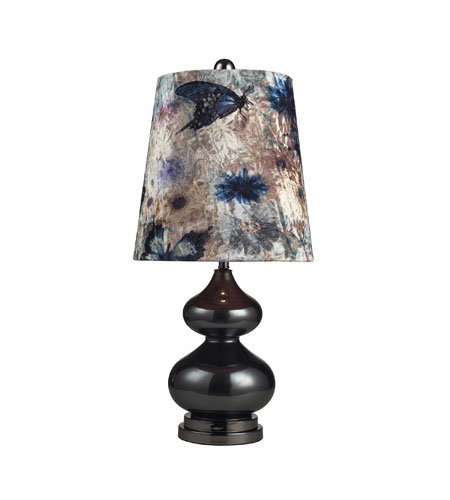 Sterling Industries Silverdale 1 Light Table Lamp in Grey Glass And Black Nickle 111-1099 photo