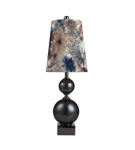 Sterling Industries Silverdale 1 Light Table Lamp in Grey Glass And Black Nickle 111-1100 photo