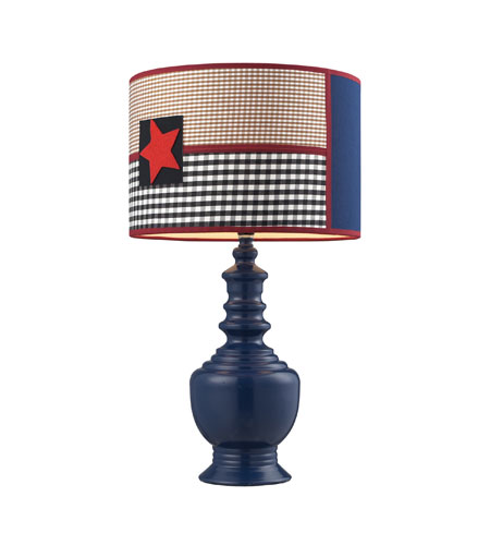 Sterling Industries Patriotic 1 Light Table Lamp in Dark Blue 111-1116 photo