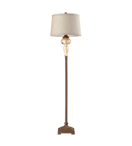Sterling Industries Lorraine 1 Light Floor Lamp in Distressed Pearlescent With Rust 113-1128 photo