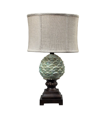 Sterling Industries Acorn 1 Light Mini Lamp in Mint Glaze With Bronze 113-1133 photo