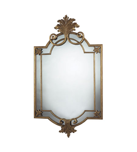 Sterling 114-02 Gretna 60 X 34 inch Gold Leaf Mirror Home Decor photo