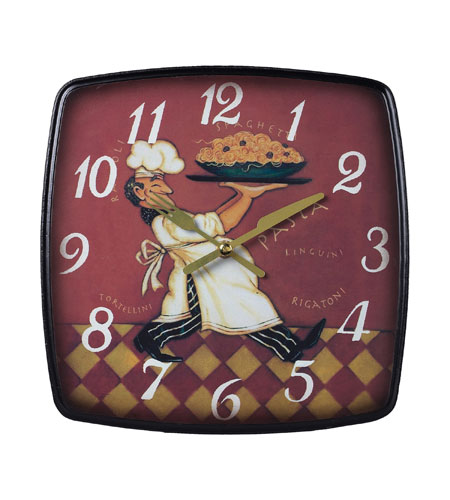 Sterling 118-010 Busy Chef 9 X 9 inch Wall Clock photo