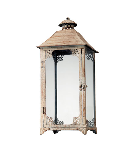 Sterling 118-020 Hurricane Chauncey Distressed Cream Candle Lantern photo