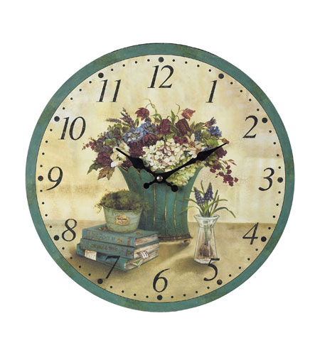 Sterling 118-033 Flowers 13 X 13 inch Wall Clock photo