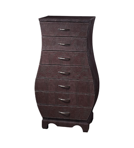 Sterling Industries Chocolate Croc Chest Of Drawers in Chocolate Faux Croc 120-001 photo