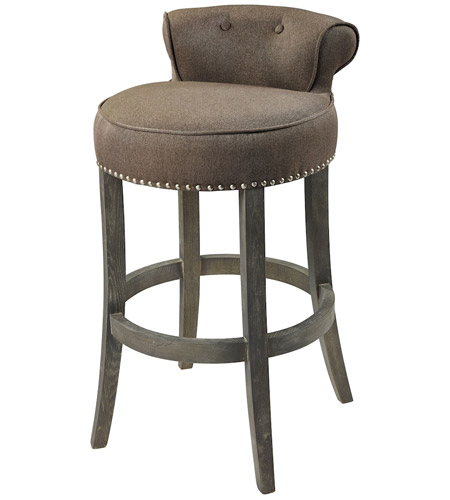 Sterling 1204 029 Saloon 36 Inch Taupe And Dark Wood Bar Chair