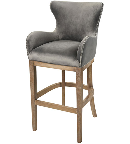 Sterling 1204 031 Roxie 43 Inch Grey And Reclaimed Oak Bar Chair Photo
