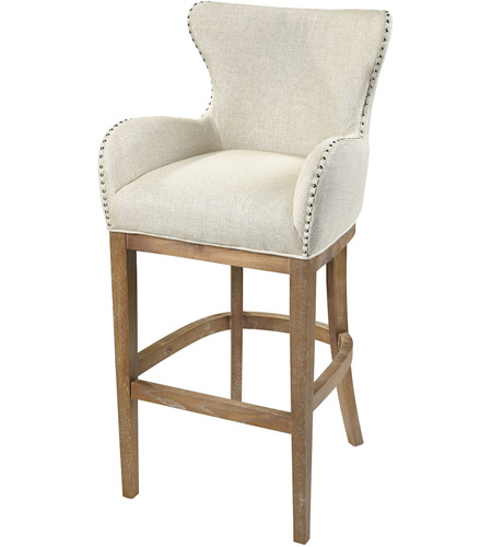 Sterling 1204 032 Roxie 43 Inch Cream And Reclaimed Oak Bar Chair