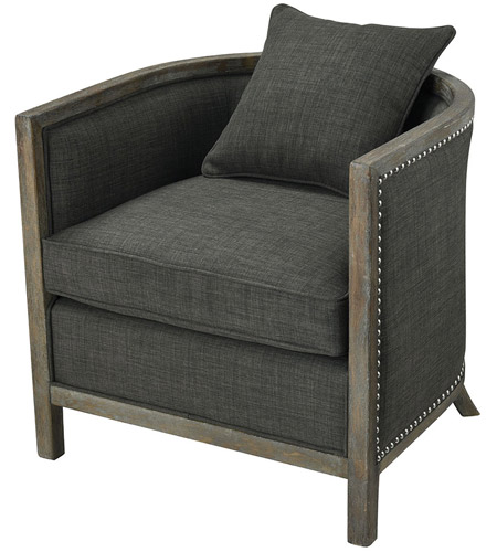 Sterling 1204 061 Five Boroughs Brown And Grey With Forest Floor Linen Club  Chair