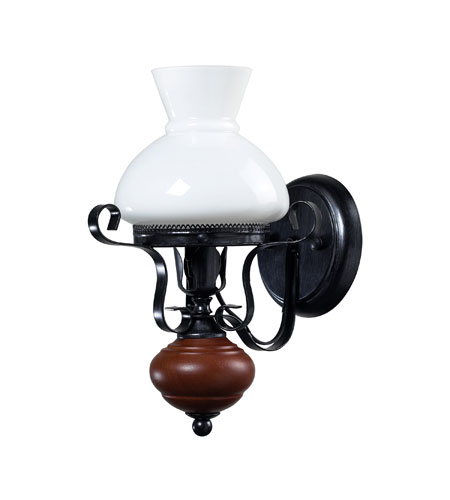 Sterling Industries Restoration Wall Sconce in Blackened Iron With Walnut 124-002 photo