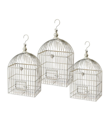 Sterling 125-045 Bird Cage White Decorative Bird Cage photo