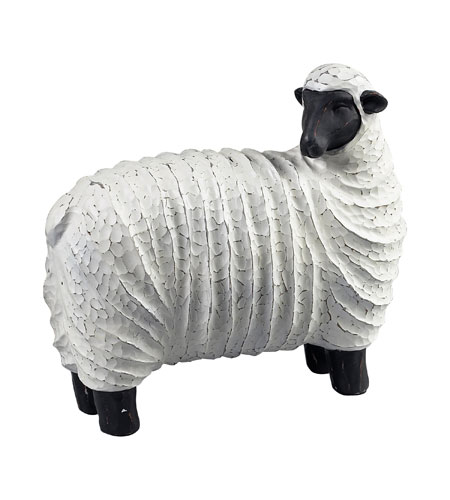 Sterling Industries Resin Sheep Decorative Accessory in Black / White 125-049 photo