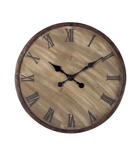 Sterling 128-1007 Wooden Outdoor 24 X 24 inch Wall Clock photo