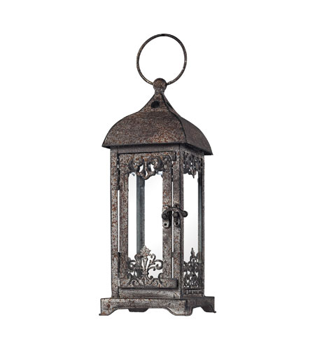 Sterling Industries Distressed Finish Hurricane Lantern Decorative Accessory in Terra Nova 128-1012 photo
