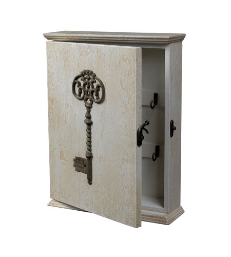 Sterling Industries Key Box Decorative Accessory in Distressed Country White 128-1024 photo