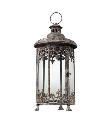 Sterling Industries Hurricane Lantern In Distressed Finish - Hexagonal Decorative Accessory in Terra Nova 128-1031 photo