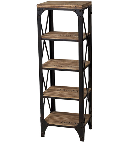 Sterling Industries Industrial Shelves Shelf in Washed Pine / Restoration Black 129-1003 photo