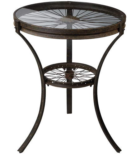 Sterling 129-1011 Industrial 25 X 25 inch Restoration Rusted Black Side Table Home Decor photo