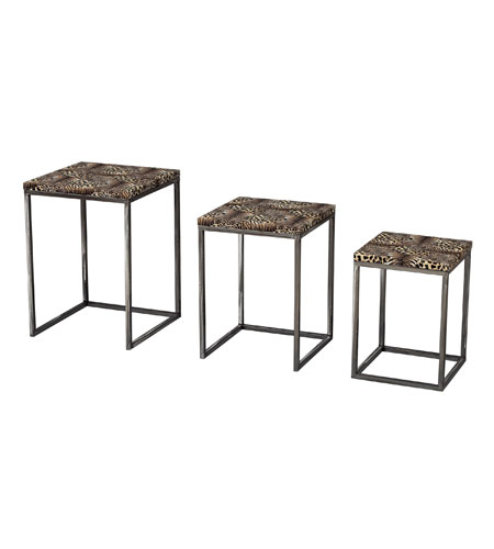 Sterling Industries Set Of 3 Leopard Print Stacking Tables Tea Table 129-1029/S3 photo