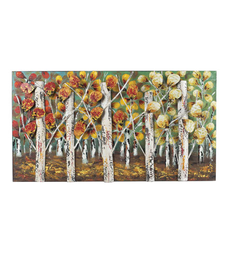 Sterling 129-1107 Autumn Birch 37 X 20 inch Metal Wall Art
