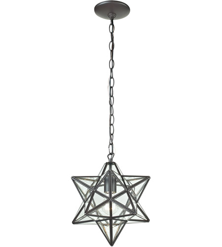 sterling star 1 light 9 inch clear and ob pendant ceiling light in small - Star Pendant Light