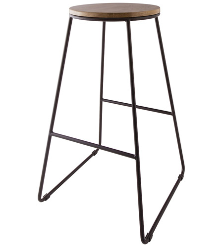 sterling 1572-013 rudolfo 28 inch black iron and natural wood stain 28 Inch Bar Stools