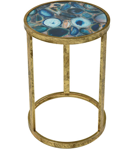 Sterling 3138 291 Krete 20 X 12 Inch Blue Agate Side Table
