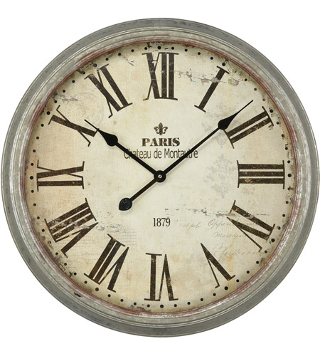 Sterling 3205 008 Chateau De Montautre 24 X 24 Inch Wall Clock