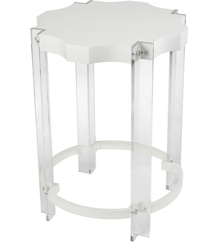 Amazing Sterling 351 10275 Kamchatka 19 X 19 Inch White And Clear Accent Table Home  Decor