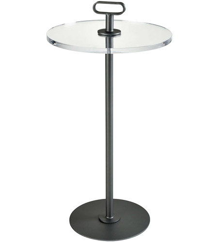 Sterling 351 10538 Whitley Heights 30 X 16 Inch Dark Pewter And Clear Acrylic Side Table