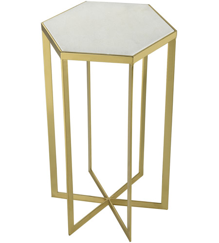 Sterling 351 10557 Halter 14 Inch Gold And White Accent Table