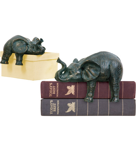 Sterling Industries Set of 2 Sprawling Elephants Statue 4-8527172 photo
