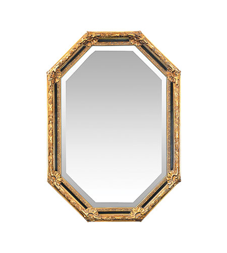 sterling 40 2376m inlay octagon 42 x 30 inch gold leaf wall mirror. Black Bedroom Furniture Sets. Home Design Ideas