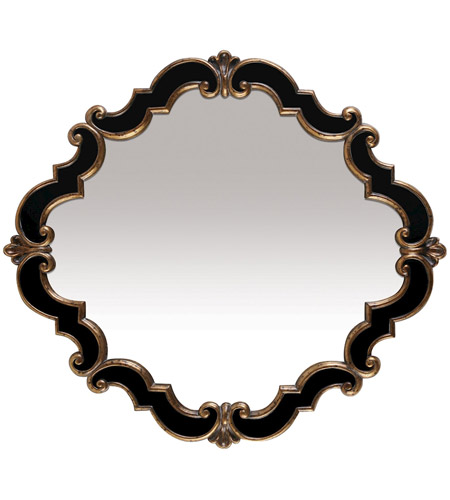 Sterling 40-2630M Frederick Medallion 39 X 39 inch Gretna Gold and Black Mirror Home Decor photo