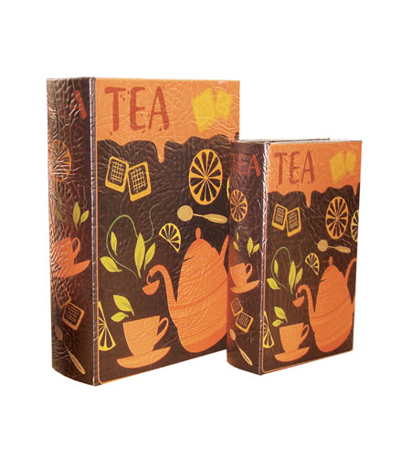 Sterling Home Set Of 2 Tea Time Box Accessory Boxes 43-0112 photo