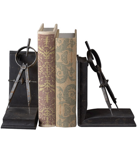 Sterling 51-10002 Bookends 12 X 4 inch Restoration Rusted Black Bookend photo