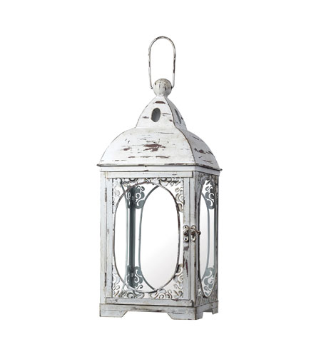 Sterling 51-10022 Candle Lantern Weathered White Decorative Accessory photo
