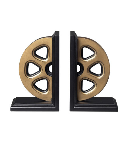Sterling Industries Movie Reel Book Ends Decorative Accessory in Panorama 51-10029/S2 photo